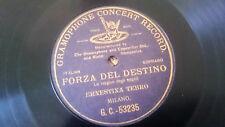 """78rpm 10"""" 1 sided G&T Gramophone GC-53235 Ernestina Tebro Forza del Destino"""