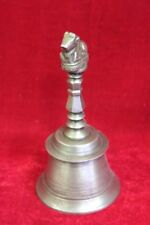 Brass Nandi Hand Bell Old Vintage Antique Rare Collectible PP-5