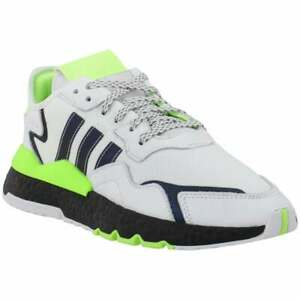 adidas Nite Jogger Lace Up  Mens  Sneakers Shoes Casual   - White