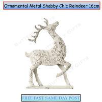 Standing Metal Shabby Chic Reindeer Christmas Xmas Decoration Ornament