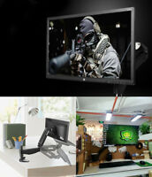 """Single Arm Monitor Desk Table Mount Stand/For 1 LCD Fully Swivel Clamp Up to 27"""""""