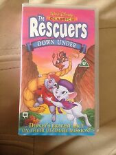 WALT DISNEY CLASSICS - THE RESCUERS DOWN UNDER UK PAL VHS VIDEO **V.GOOD**