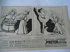 1897  Caricature Print Les animaux pour rire ( les grenouilles )