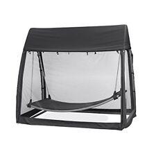 Accessoires hamacs couchages noirs pour tente et auvent de camping