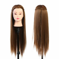 Salon Human Hairdressing Practice Training Head Long Hair Mannequin Doll Kit LY