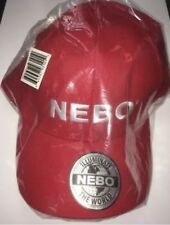 Red Adjustable Hat; NEBO flashlight; Alliance Sports Group Baseball Cap