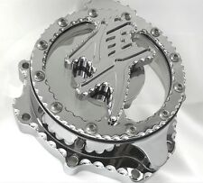 Hayabusa Chrome 3D Raised Logo Clear See Through Stator Cover w/Ball Cut Edges!!