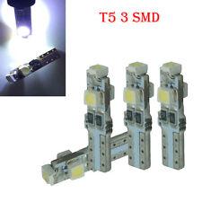 10 x White 6000K 58 70 73 74 T5 Dashboard 3528 3 SMD LED Wedge Bulb Light RF