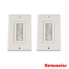 US Seller! 2 Pack Decora Wall Plate with Brush Insert - White