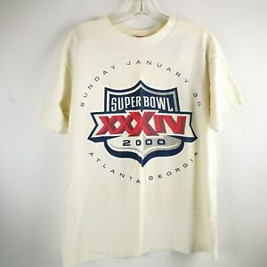 Large VTG 2000 Super Bowl Atlanta Georgia Sunday January 30 Shirt Size L