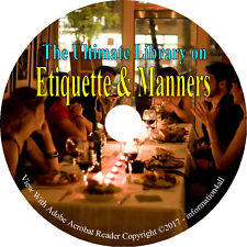 41 Books on CD, Ultimate Library on Manners & Etiquette, How to Behavior Behave