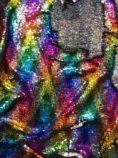 """Rainbow Mermaid Reversible Sequins on Spandex Base 58/60"""" Sold By The YD."""