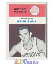 1961-62 Fleer #41 Gene Shue Detroit Pistons Carte NBA Basketball