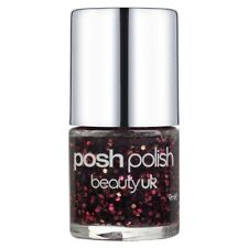Beauty UK Posh Polish Nail Varnish Lacquer Glitter Sparkle 17 QUEEN OF HEARTS