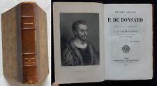 P/ OEUVRES CHOISIES DE PIERRE DE RONSARD (Garnier 1879) (Relié)