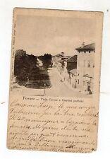 C000195  FERRARA  VIALE CAVOUR E GIARDINI  PUBBLICI  ANIMATA  VG 1903  DIFETTI
