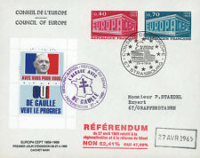 "EU56EO-DG1 FDC Council of Europe ""DE GAULLE - Referendum 1969 / EUROPA"" 1969"