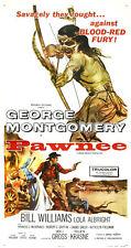 Pawnee George Montgomery western movie poster print