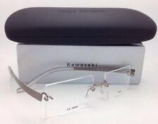 NEW Authentic Rimless Eyeglasses Kazuo Kawasaki 704 34 SP-51 Grey Titanium Frame