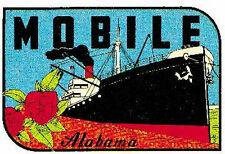 Mobile, Alabama   Vintage-1950's Style Travel Decal