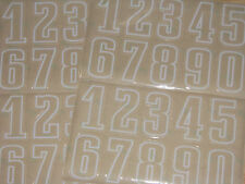 """EAGLES """"Style"""" Football Helmet Numbers Decals Sheet #0-9 Full Size 3M 20mil"""