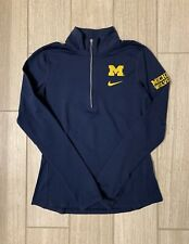 Nike Michigan Wolverines Womens Navy Blue Half 1/4 Zip Pullover - Size S
