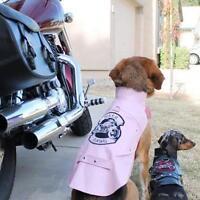 Doggie Design Biker Dawg Motorcycle Dog Jacket - Pink