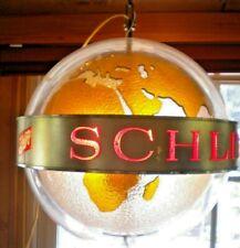 "Schlitz Beer Hanging Globe Light w/Motion 17"" Diameter (approx) Vintage"