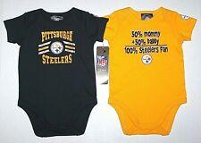 New Nwot Pittsburgh Steelers Logo Bodysuit Romper Top Shirt Snaps Football Baby