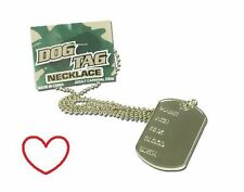 military dog tag necklace boys mens fancy dress accessory