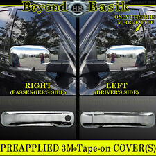 For 2009-2012 DODGE RAM 1500 Chrome Door Handle COVERS 1KH + Mirrors w/Signal
