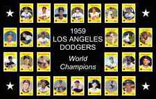 LOS ANGELES DODGERS 1959 World Series Vintage Baseball Card Custom Poster Decor
