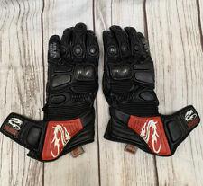Arlen Ness G-6037 Motorcycle Sport Gloves Black Size Large Leather 100%