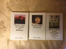 Martin Suter 3 Taschenbücher Der Koch, Der Teufel von Mailand, Unter freunden
