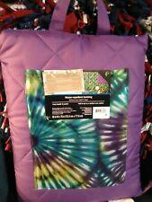 Outdoor Waterproof Blanket Carry Handle Pocket Seat Cushion Fold Picnic purple