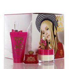 Viva La Juicy Perfume GIFT SET Juicy Couture Women 0.17 oz Parfum & Creme & GEL