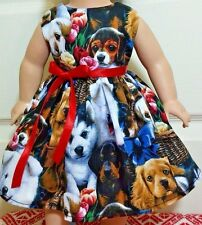 Lovely Puppies Dress Handmade Clothes American Girl Dolls 18 Inches .