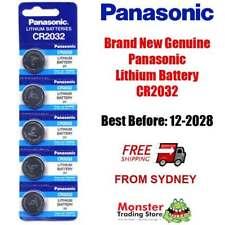 5 x PANASONIC CR2032 3V LITHIUM BUTTON COIN BATTERY BRAND NEW/GENUINE (12/2028)