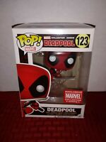 Funko Pop Marvel Collector Corps Funko Pop! Deadpool (Leaping) #123 Exclusive
