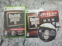 Guitar Hero 5 Microsoft Xbox 360 Game CIB Complete 2009 Tested Working