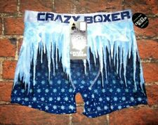 MENS CRAZY BOXER ICY BLUE BOXER BRIEF SIZE S (28/30)