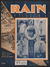 Rain 1934 Baby Rose Marie (Rose Marie of the Dick Van Dyke Show) Sheet Music