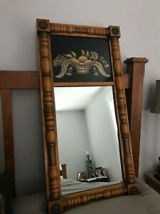 Vintage Lambert Hitchcock Reverse Painted Maple Harvest Wall Mirror