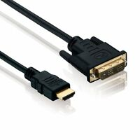 HDMI auf DVI Highend Kabel FULL HD 1080p PC zu Monitor Beamer TV Adapter 3m