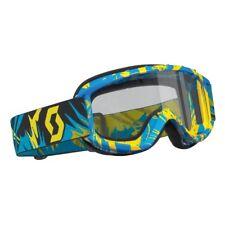 Scott 89si Junior STROBE enfants LUNETTES Goggle Bleu/jaune / Transparent pour