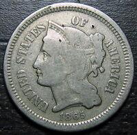 1865 3 Cent Nickel Piece  --  MAKE US AN OFFER!  #R4293