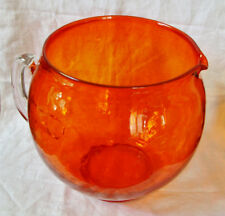 Halloween Orange Punch/Cocktail Bowl ~ Viking Art Glass ~ MINT