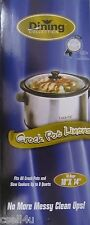 """Dining Collection Crock Pot Slow Cooker Liners 18"""" x 14"""" 10 Bags"""