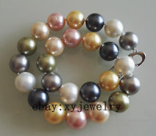 beautiful huge 16mm Multi-Color shell pearl necklace 45 cm