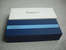 (New) Waterman Paris Ball Point Black Ink Pen Gold & Black Lacquer Finish in box